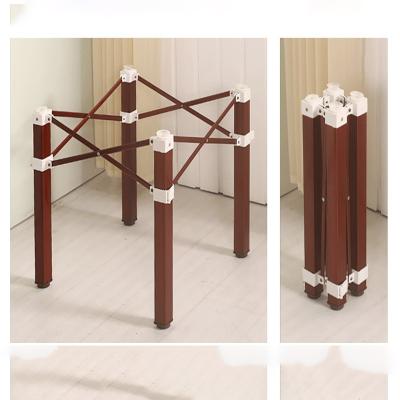 折叠桌架桌腿支架桌脚架金属桌架子不锈钢折叠麻将桌腿快餐桌子腿