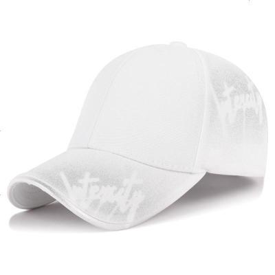 春秋季新款男女士戶外運動棒球帽時尚涂鴉字母遮陽帽絲光棉帽子潮