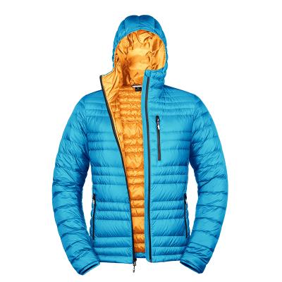 七十二刻 定制羽絨服 男女情侶款羽絨服 天藍色·橘黃色