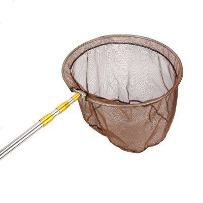 不锈钢抄网竿鱼网捞鱼网渔网兜钓鱼操网伸缩杆可折叠鱼具用品手抄