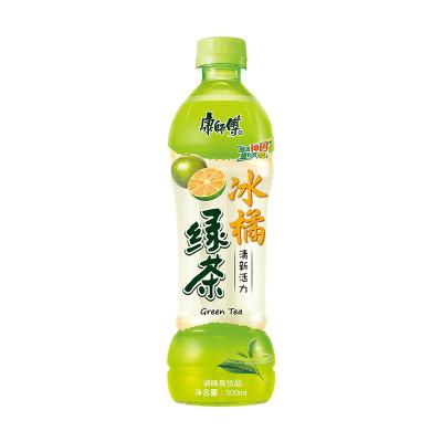 康师傅冰橘绿茶PET500ml*15