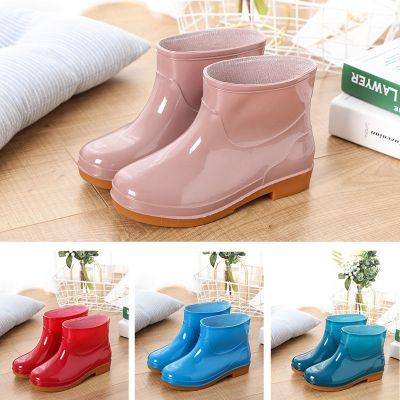 水鞋女低幫成人中筒雨鞋女加絨短筒時尚夏水靴女防滑雨靴女防水鞋 莎丞