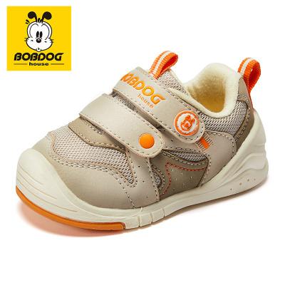 BOBDOG HOUSE巴布豆童鞋2020秋季男童學步鞋女童軟底寶寶嬰兒鞋BY8701