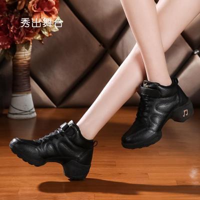广场舞鞋水兵加绒中跟真皮冬季舞蹈鞋女成人广场舞跳鞋子软底 尺码提示:标准尺码,按平时常穿的尺码拍就行 34