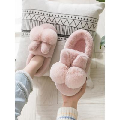 邁凱恩品牌可愛韓版棉拖鞋女冬包跟厚底室內兒童加絨月子產后防滑居家用棉鞋