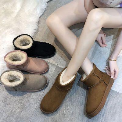 冬季雪地靴女平底短筒短靴加绒加厚防滑保暖棉鞋时尚雪地棉 女 莎丞