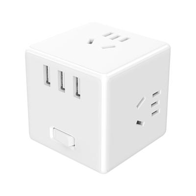 小米(MI) 米家家用插排魔方插座帶開關接線板拖線板電源轉換器無線版