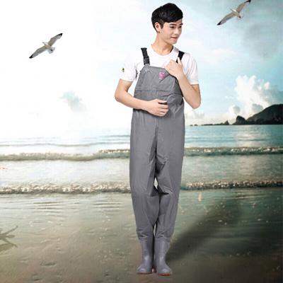 下水褲連體褲全身加厚防水服耐磨垂釣釣魚褲抓魚捕魚雨褲漁具