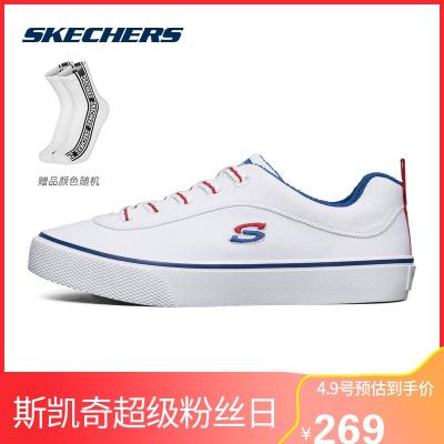 Skechers斯凱奇春夏女士帆布鞋綁帶時尚休閑鞋155033