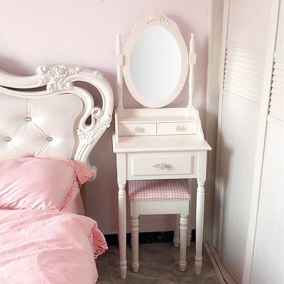 赛可优美式梳妆台白色实木化妆台桌子欧式迷你公主韩式卧室小户型组合