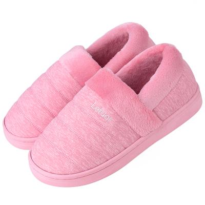 乐拖防水包跟棉拖鞋女士冬季室内情侣家居家用厚底保暖毛绒拖鞋男