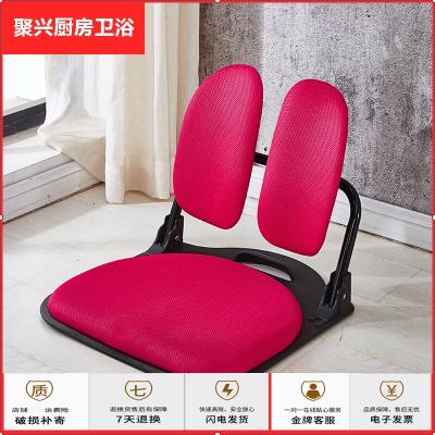蘇寧放心購日韓式和室椅學生宿舍無腿椅床上坐椅榻榻米椅子坐墊靠背懶人椅子 s-17玫瑰紅-布藝 整裝聚興新款