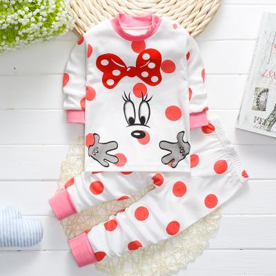 口袋虎 兒童常規內衣套裝純棉春裝 1234歲寶寶衣服男女童秋衣褲嬰兒睡衣春秋季