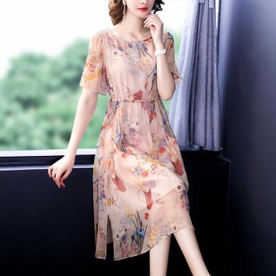安尼純連衣裙高端大碼女裝夏裝2020年新款裙子夏季