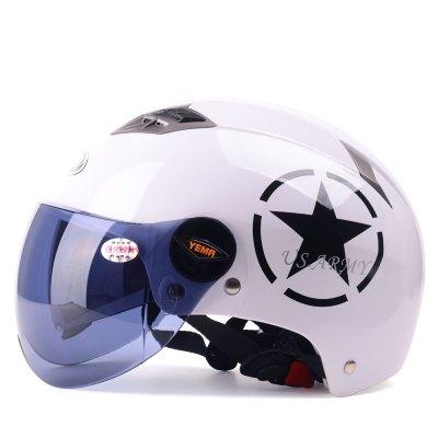 野馬電動車頭盔男夏季輕便式半盔女夏天防曬紫外線四季電瓶安全帽