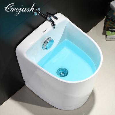 Crejash东尼卫浴 拖把池陶瓷阳台拖布池拖把盆墩布池洗地拖桶 配自动下水