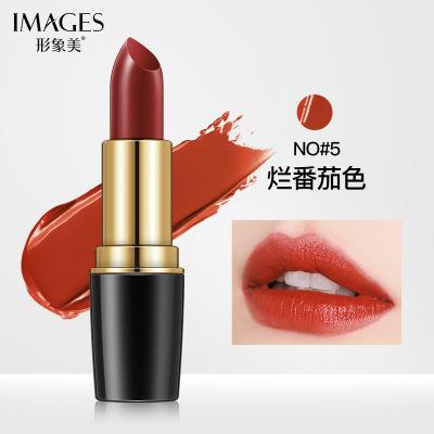 形象美魅彩炫色晶潤口紅#5爛番茄色 持久不易掉色滋潤保濕唇膏水潤嬌唇口紅