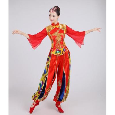 新款打鼓服演出服男女成人秧歌服中國風民族水鼓開場舞腰鼓隊服裝