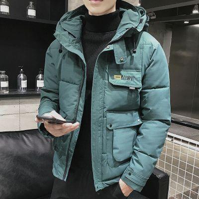 工裝棉衣男士冬季外套2019冬裝新款潮流棉襖情侶加厚帥氣連帽棉服威珺