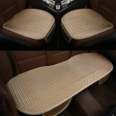 皓邦 汽车坐垫 夏季座垫凉垫 竹片三件套 金色