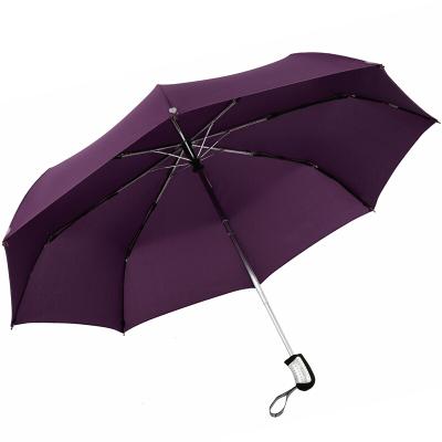 天堂 3331E碰自開收三折超輕商務傘晴雨傘