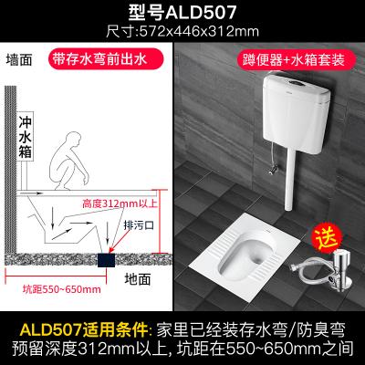 箭牌(ARROW)蹲便器水箱套装卫浴整套 蹲厕便盆防臭马桶便池 陶瓷套装