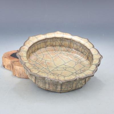 宋 哥窯 金絲鐵線 棱口洗 文房用具 古董瓷器古玩古瓷器老貨收藏