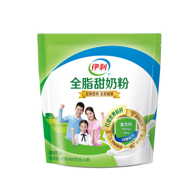伊利 全脂甜奶粉400g袋装(成人奶粉)