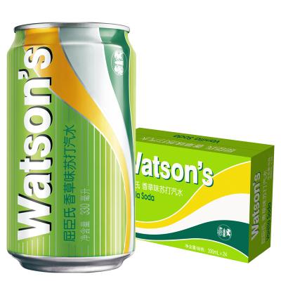 屈臣氏(Watsons)香草蘇打水330ml *24聽 香草味 飲用水