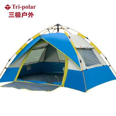 三極戶外(Tripolar) TP2303 雙人三窗全通透式單層自動帳篷公園親子帳篷3-4人一門三窗帳篷