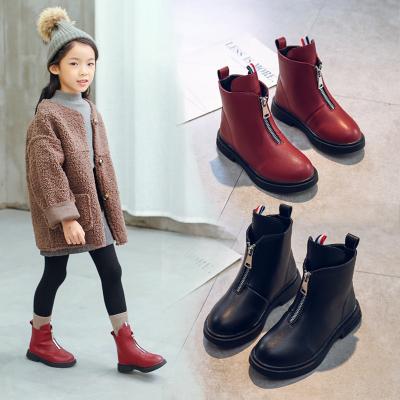 迈凯恩品牌女童靴子儿童短靴中筒公主鞋韩版马丁靴小女孩棉靴保暖宝宝雪地靴