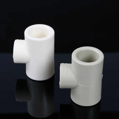 幫客材配 金潮采暖爐異徑三通白色DN25×20_200個/箱金潮