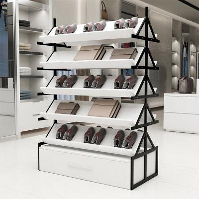 家具好店鞋店展示台办公室报刊架鞋子包包展示桌货架木质展架中岛柜储物柜放心购
