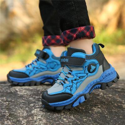 男童鞋子2019新款冬季兒童棉鞋中大童旅游鞋二棉鞋加絨保暖跑步鞋