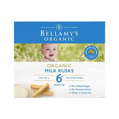 貝拉米(Bellamy's)有機磨牙餅干棒 寶寶磨牙棒 100克/盒裝 海外進口 6個月以上