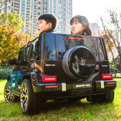 【正版授權】奔馳大g兒童電動車四輪雙人小孩超大遙控越野寶寶玩具車可坐人電動汽車威可迪【售后保障】