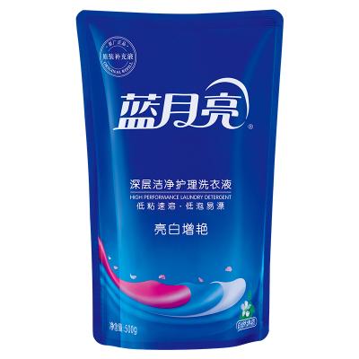 蓝月亮 洗衣液机洗500g袋装自然清香亮白增艳补充装