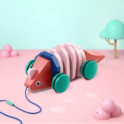 babycare宝宝拖拉鳄鱼玩具 0-1岁婴儿学步拉绳拉线牵引手拉车玩具剑龙