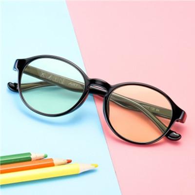 派丽蒙 防蓝光眼镜儿童款 看电脑玩手机游戏保护眼睛 抗疲劳防辐射眼镜 全框PC镜片电脑手机护目镜7728B1F