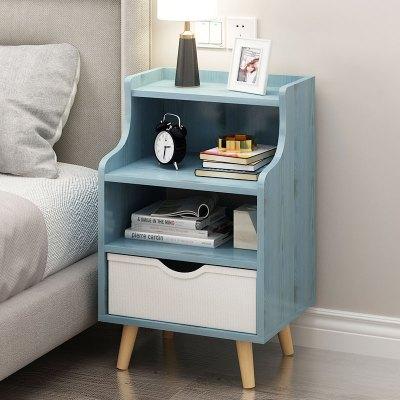簡約現代床頭柜置物架簡易儲物柜床邊小柜子多功能臥室床頭收納柜
