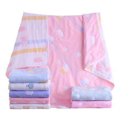婴儿纱布浴巾纯棉6层儿童被提花新生儿毛巾被儿童盖毯洗澡披巾裹布吸水吸汗