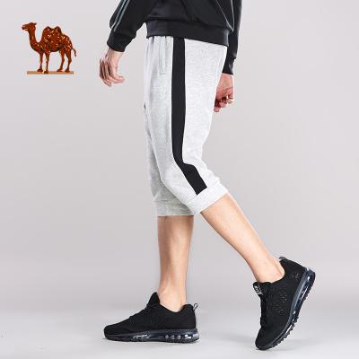CAMEL骆驼户外运动裤 2019春夏新款男款时尚运动休闲撞色松紧塑形小脚七分卫裤