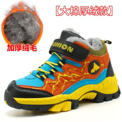 男童棉鞋冬季新款防滑中大童高幫防水加絨加毛兒童大棉鞋