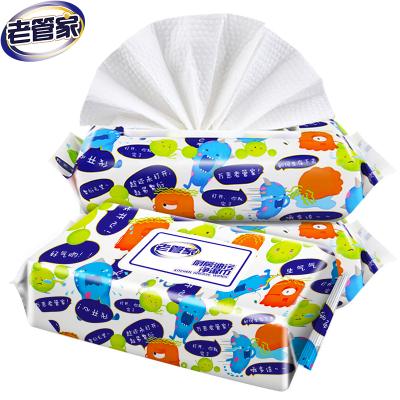 老管家廚房用紙濕巾抽取式帶蓋吸油吸水紙抽油煙機灶臺濕巾紙其他廚房用濕巾紙1包裝