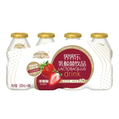 界界乐金装儿童乳酸菌饮料草莓味100ml*4瓶
