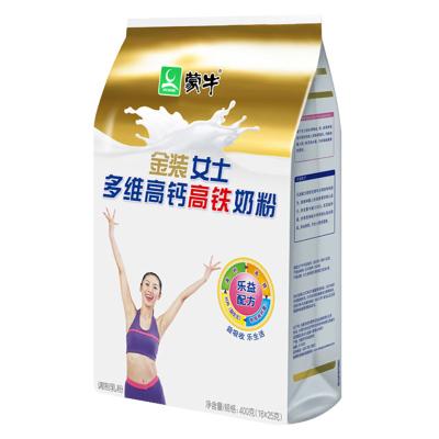 蒙牛(MENGNIU)金装女士多维高钙高铁袋装奶粉400g即食冲饮早餐新需求
