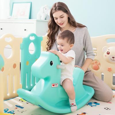澳樂(AOLE-HW) 搖搖馬 寶寶健身戶外玩具 兒童小木馬搖馬塑料搖搖馬 澳樂-嬰兒搖搖馬 藍色