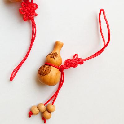 【中華特色】泰安館 泰山桃木王 桃木精美葫蘆掛件 桃木鑰匙扣 木雕工藝禮品 華東