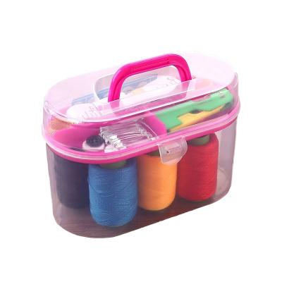 乾越(qianyue)便攜迷你針線盒套裝家用針線縫補針線包收納工具整理箱十件套