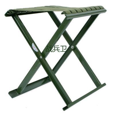 戰兵衛軍綠色折疊凳子金屬折疊凳戶外野營凳 小馬扎軍綠色